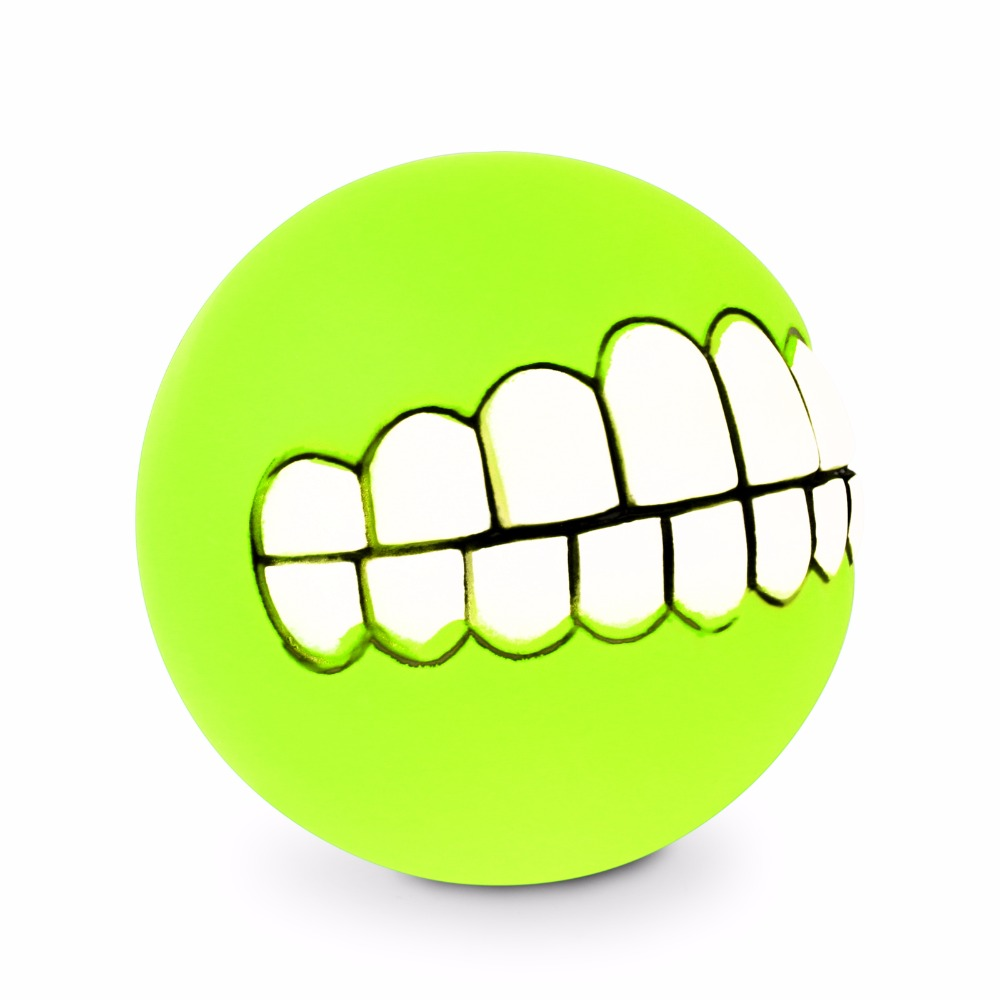 Pet Puppy Dog Funny Ball Teeth Silicon Toy Chew Sound Dogs Play Toys