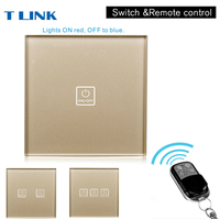 TLINK EU Standard Remote Control Switch 1 Gang 1 Way Wall Switch Wireless Remote Control Light