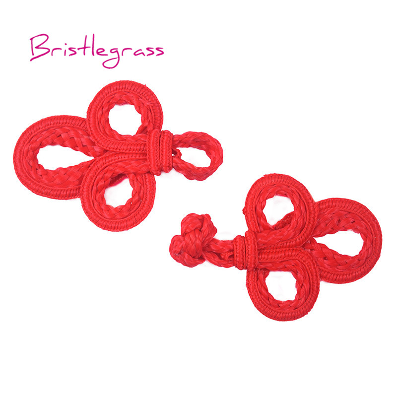 Available in 12 Colors. Five Pairs of Bead Chinese Frogs fasteners closure buttons in Red