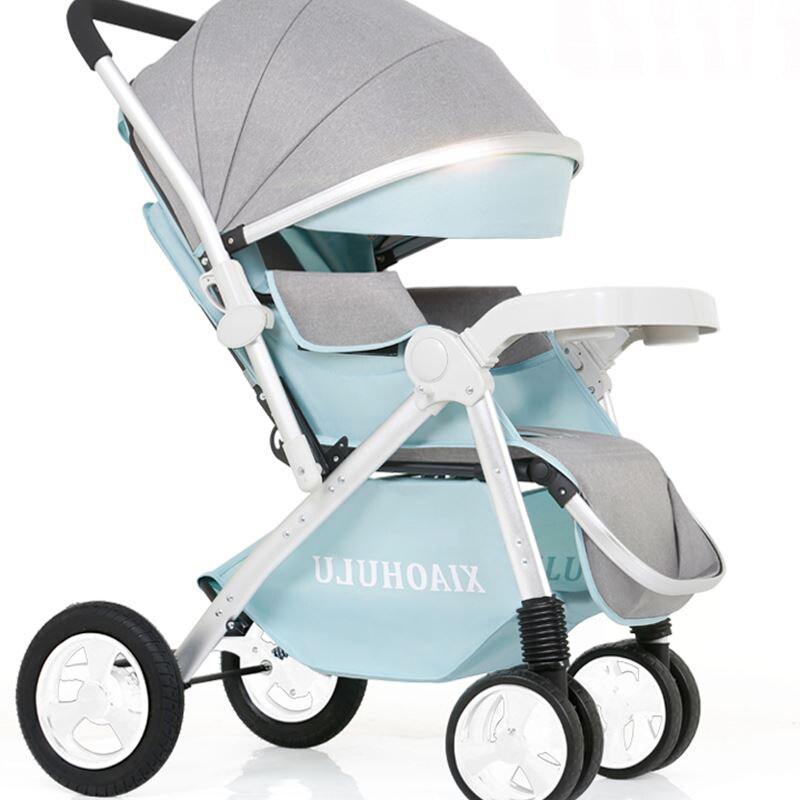 Pour 0-6 ans bébé peut s'asseoir et se coucher léger pliage haute choc paysage enfant bébé poussette bébé transport fret
