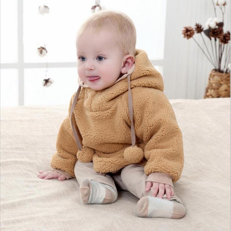 100% Cashmere winter Children's Clothing Warm Boy girl's Hoodie Cardigan baseball uniform children long sleeved jacket 2016 New