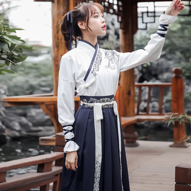 Womens Chinese Traditional Costume Hanfu Dresses Clothing Tang Ancient Fairy Dress Princess Clothes Costumes Cosplay DL3235