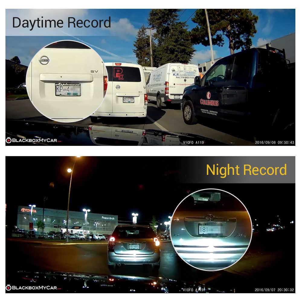 "Original VIOFO integrado A119 V2 2,0 ""LCD condensador Novatek 96660 HD 2K 1440P tablero de coche grabadora de video DVR GPS opcional CPL filtro"