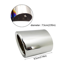 1 Pair Car Auto Round Exhaust Muffler Tip Stainless Steel Pipe For BMW 5 Series F10 F11 F07 E12 E28 E34 E39 E60 E61 Car Styling