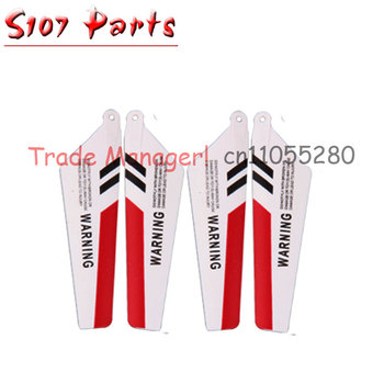 Cheap wholesale SYMA s107 10 sets rc helicopter Accessories manufacturers main fan kit Main Blade part for s107g Helicopter