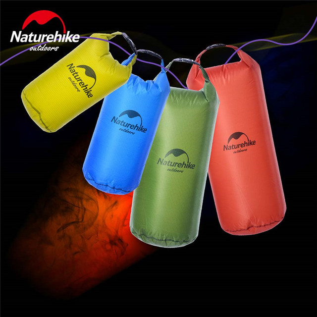 Naturehike 5L 10L 20L Lghtweight Waterproof Dry Bag Storage Bag for Camping Rafting Sports Kayaking Canoeing Swimming Dry Sack 5