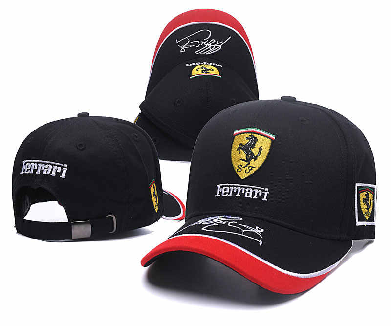 b9b6794e5c995 High quality new Ferraris logo black style Auto Logo Adjustable Embroidered  snapback hood Hat Mens Women