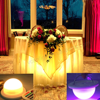 50PCS/lot LED ight Wedding Item Type 16 Colors Available Centerpiece Holiday Lighting