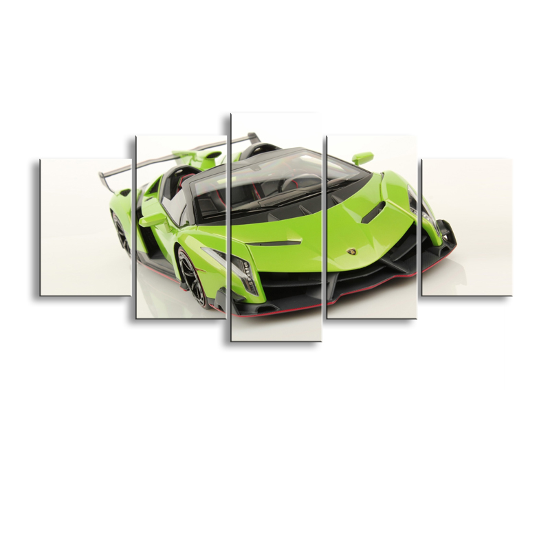 5 pieces high-definition print sports car canvas oil painting poster and wall art living room picture C5-11