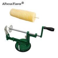 1 Pc Potato Twister Potato Slicer Stainless Steel Kitchen Accessories Tornado Slicer Manual Cutter Spiral Chips 5