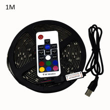 1 M RGB Warna Berubah TV LED Strip Lampu USB Bertenaga 5 V Lampu Strip LED dengan Remote Control TV Backlight kit Lampu Ribbon Tape(China)