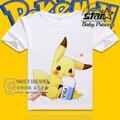 Boys Girls Short Sleeve Shirt Children Clothing Kids Tops Shirt Print Cartoon Pokemon Tees Cotton Summer Brand Kids Outfits