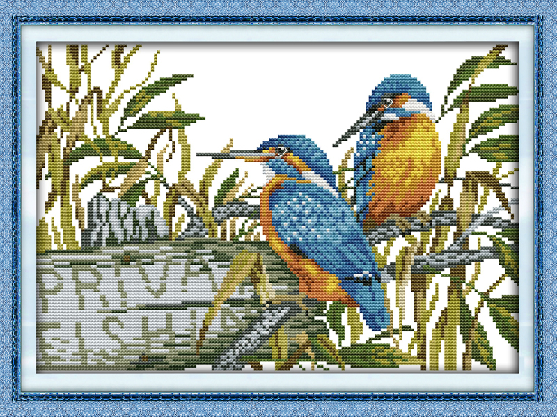 The In Love Alcedo Euryzona Counted 11ct Printed 14ct Cross Stitch Set Diy Chinese Cotton Cross-stitch Kit Embroidery Needlework 50% OFF Arts,crafts & Sewing