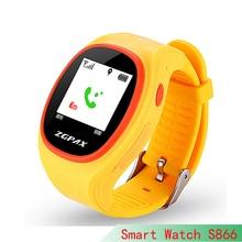 Heißer Smartphone Kinder Kid Armbanduhr S866 GSM GPRS GPS Locator Tracker Anti-verlorene Smartwatch Kind Schutz für iOS Android