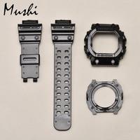 Mushi Watchbands Watch Strap Watch Case For Casio GX 56BB 1 g shock Black Transparent Blue Yellow Red Green Watch Accessories