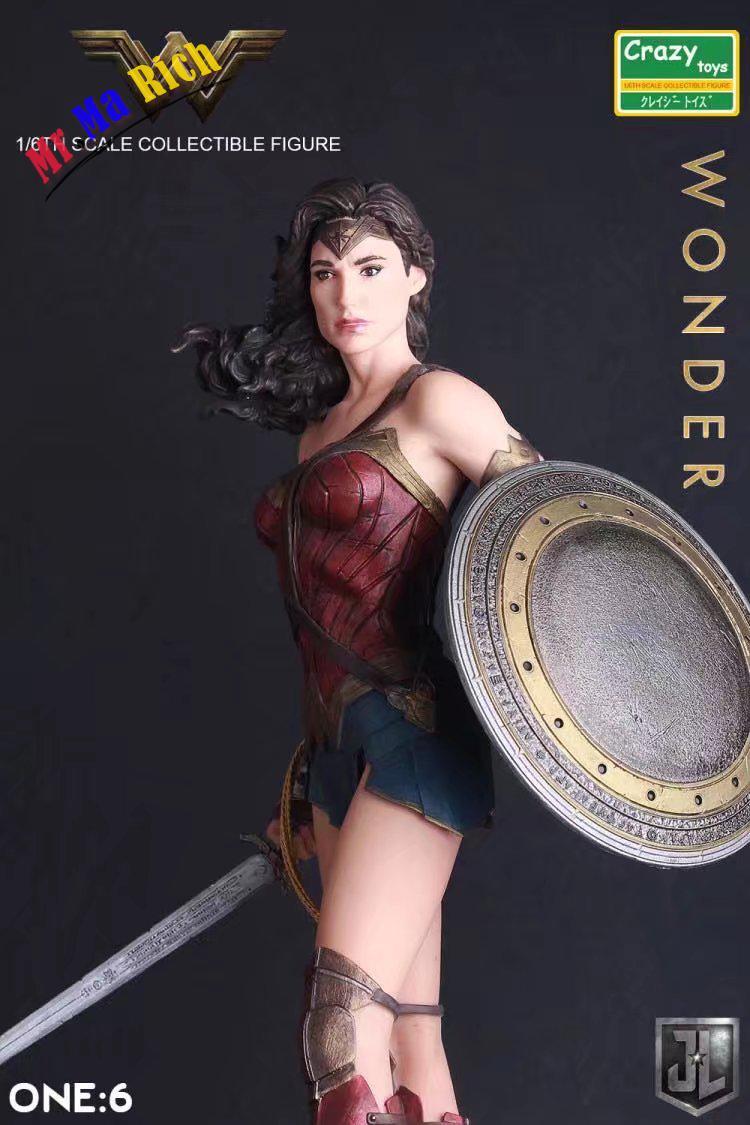 Pazzo Giocattoli 1:6 Dc Justice League Super Eroe Wonder Woman Action Pvc Figure Da Collezione Model Toy 12 Inch 30 Cm