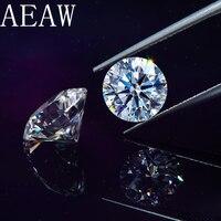 Round Brilliant Cut 1.5 Carat 7.5mm D Color Moissanite Loose Stone Certificate VS1 Excellent Cut Grade Test Positive Lab Diamond