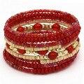 2015 For joven de las muchachas o para mujer mejor regalo piedra preciosa creada Boho elástica pulsera del grano India para mujeres pulsera