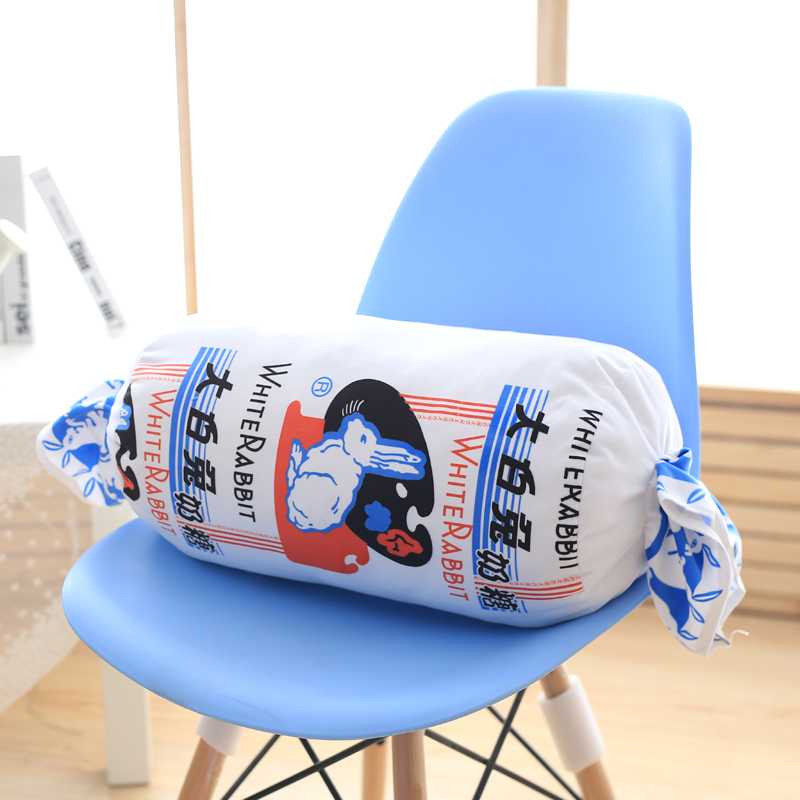 Creative Stuffed Toy White Rabbit Candy Plush Toys Soft Toy Plushie Doll Sleeping Pillow Cushion Peluche For Kids Birthday Gifts