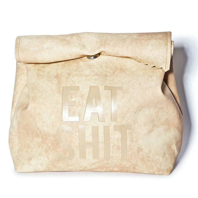 Funny Eat Lunch Bag Women S Ulzzang Messenger Bags Gift Letter Picnic Fold Over Clutch Novelty Suede Handbags In Clutches From Luggage