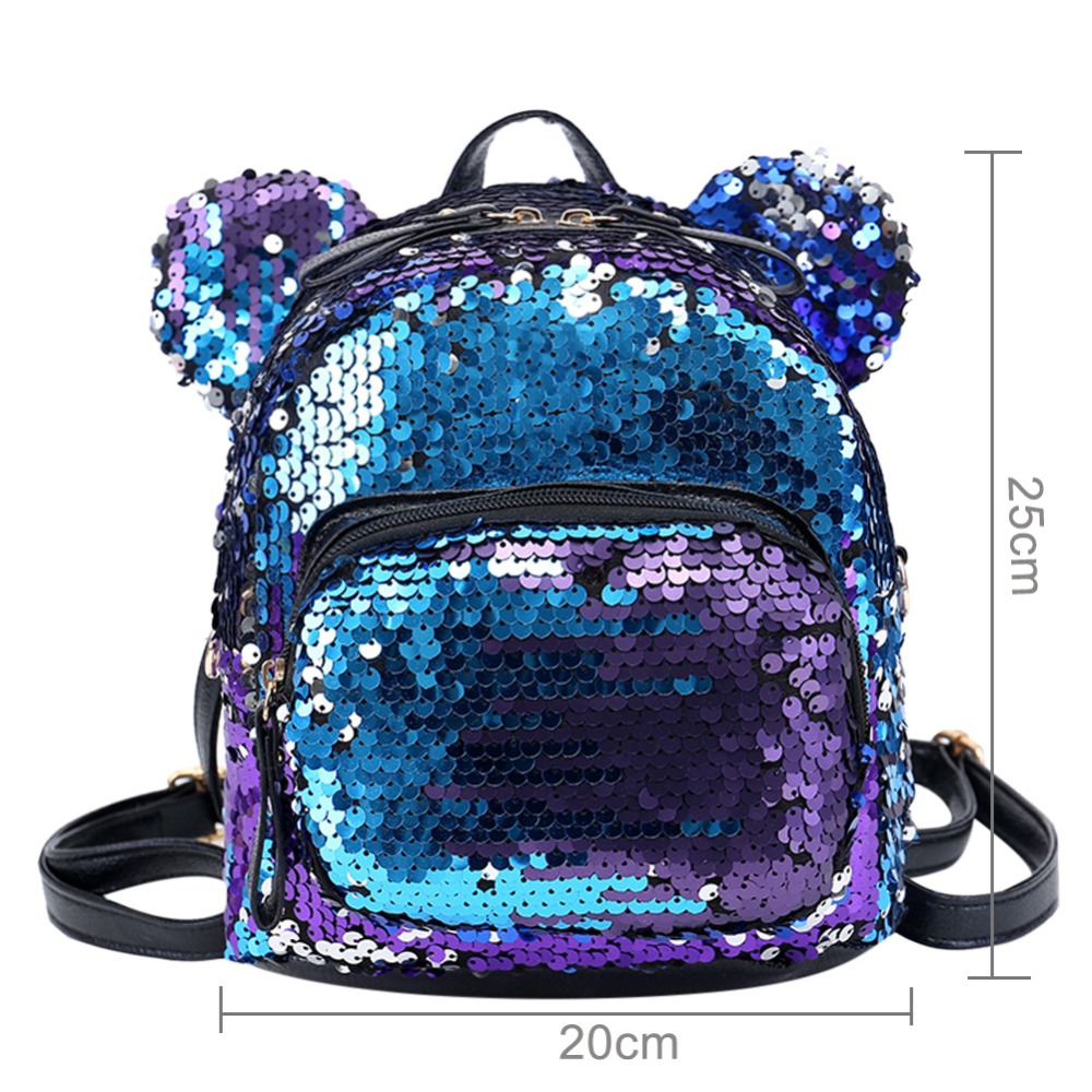 Shining Women Sequins Backpacks Teenage Girls Travel Large Capacity Bags Portable Party Mini School Bags Shoulder Bag For Lady #6