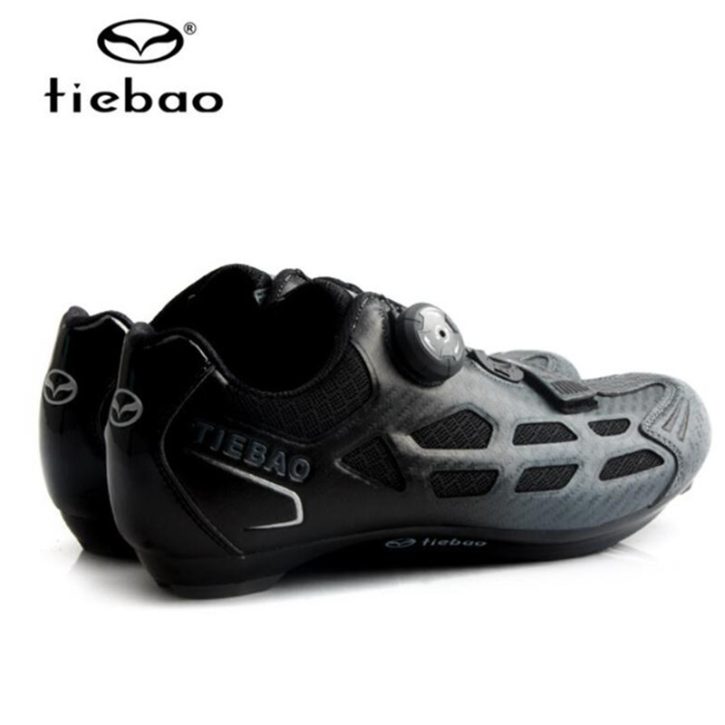 Купить с кэшбэком TIEBAO Road Cycling Shoes Men sneakers add pedal set Pro Team Bike Rubber Breathable Unlocked Bicycle Shoes sapatilha ciclismo