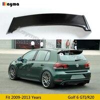 БНР Стиль углеродного волокна задний спойлер на багажник для VW Golf VI MK6 заднего крыла Спойлер 2009 2010 2011 2012 2013 только подходят GTI и R20