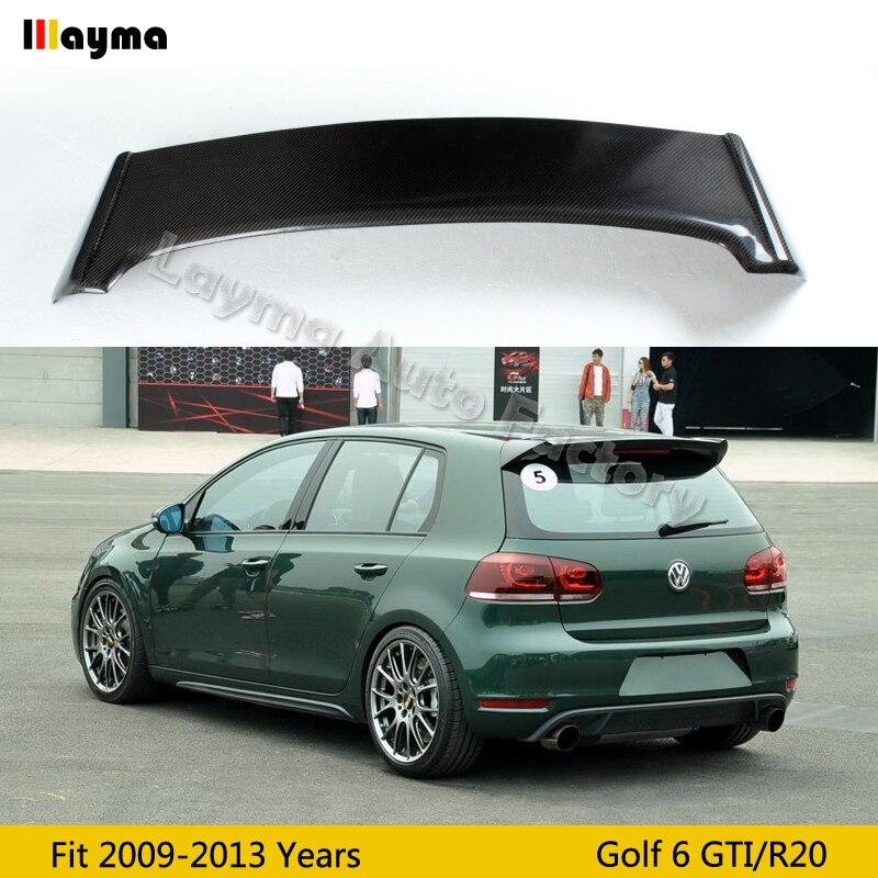 БНР Стиль углеродного волокна крыши крыла Спойлер для VW Golf VI MK6 автомобиля задний спойлер на багажник 2009 2010 2011 2012 2013 подходит только GTI и R20