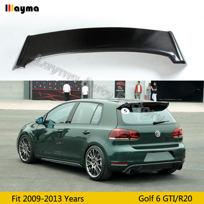 OSIR Style Carbon Fiber roof wing spoiler For VW Golf VI MK6 Car rear trunk spoiler 2009 2010 2011 2012 2013 only fit GTI & R20