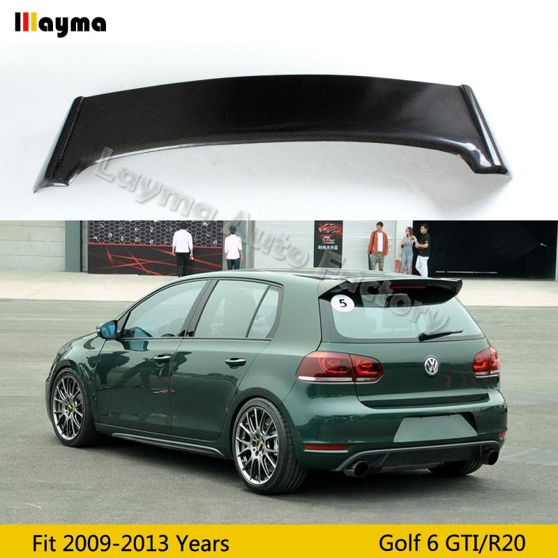 OSIR Style Carbon Fiber roof wing spoiler For VW Golf VI MK6 Car rear trunk spoiler 2009 2010 2011 2012 2013 only fit GTI & R20