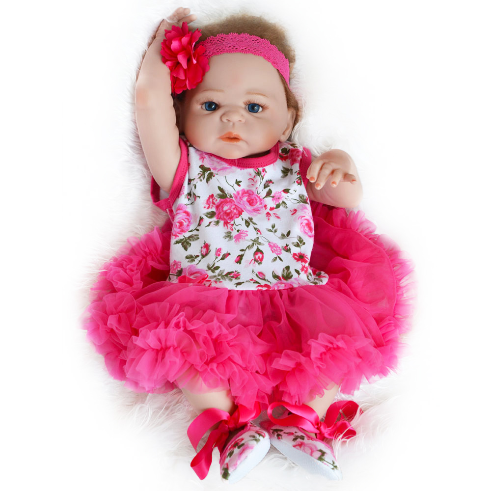 55 centimetri Pieno Del Corpo In Silicone Reborn Baby Doll Giocattolo Adorabile Realistico Del Bambino bebes reborn corpo de silicone inteiro realista-in Bambole da Giocattoli e hobby su  Gruppo 1