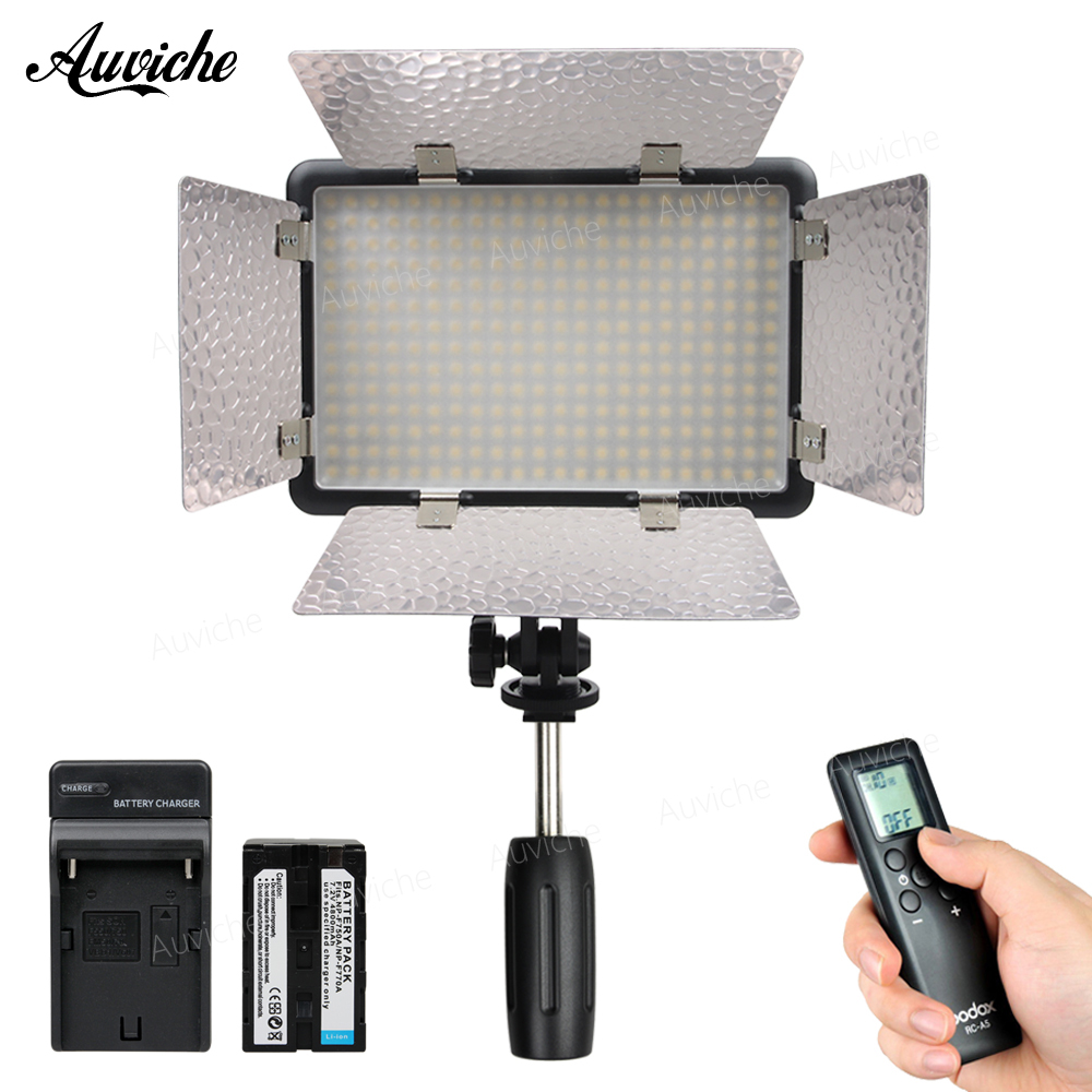 Godox LED308IIC 3200-5600K LED Video LED light Fill Light with F750 battery for DSLR Camera Camcorder DV for Wedding Interview hot sale dof hvr d160 5600k 160 leds bandoor filters ball mount led on camera video light for dv camcorder and dslr camera
