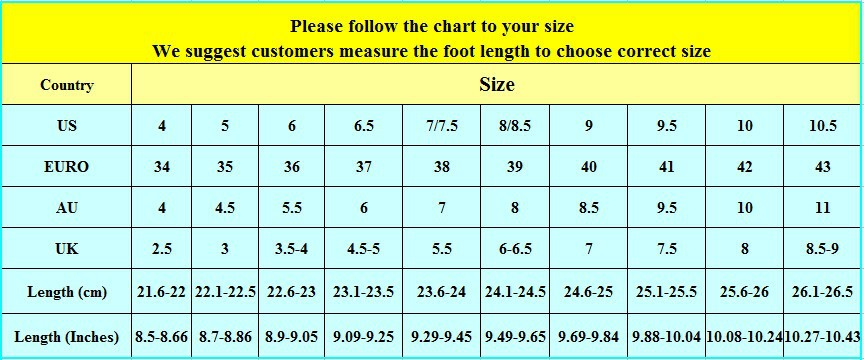 website nancyweding shoes size chart