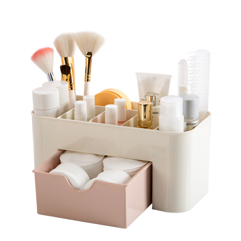 BAKINGCHEF Plastic Drawer Cosmetic Box Desktop Make Up Storage Box Jewelry Case Home Organizer Accessories Supplies Gear Stuff