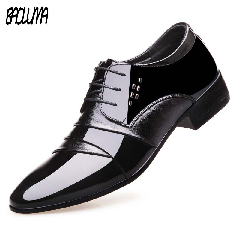 Shoes Italy Oxford Shoes Men Luxury Brand Mens Patent Leather Black Shoes Mens Pointed Toe Dress Shoes  Classic DerbiesShoes Italy Oxford Shoes Men Luxury Brand Mens Patent Leather Black Shoes Mens Pointed Toe Dress Shoes  Classic Derbies