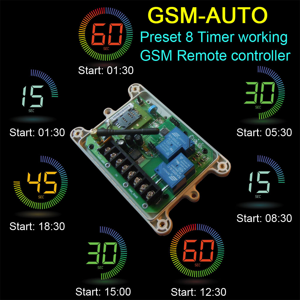 Free shipping 4G Version GSM-AUTO GSM Remote Relay Switch controller ( Double Relay output Wireless switch Control )