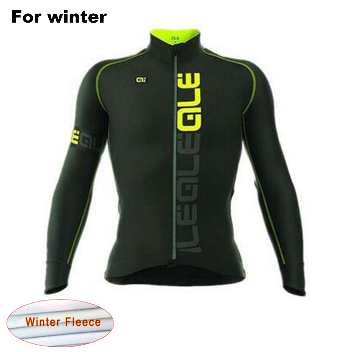 2017 Ale New Men`s Thermal Fleece Long Sleeves Warm Team Winter MTB Sportswear Ropa Ciclismo Maillot Cycling Jersey Bike Clothes