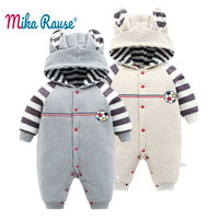 New Infant winter clothes baby boy Rompers newborn baby boy girl kids cartoon hooded romper jumpsuit toddler rope bebe clothing