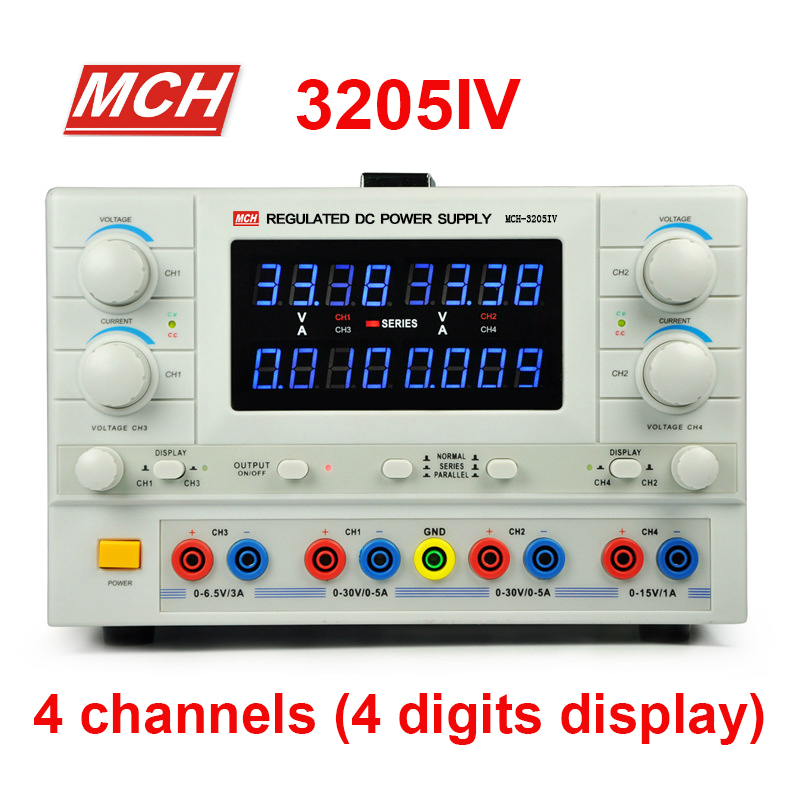 MCH 3205IV DC power supply 4 way power adjustable experimental laboratory power supply Switching Power Supply 4 digits display-in Switching Power Supply from Home Improvement    1