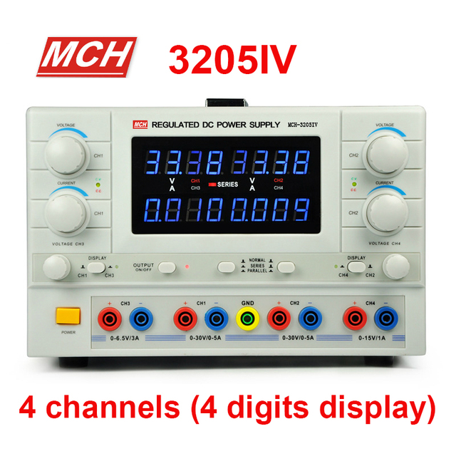 MCH-3205IV DC power supply 4-way power adjustable experimental laboratory power supply Switching Power Supply 4 digits display
