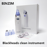 Face skin cleaner device blackhead removal Device Acne Pimple Removal Vacuum Suction Tool Peeling shovel machine face exfoliato