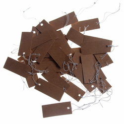 17x40mm Price Tag 100Pcs Brown Kraft String Blanks Wedding Favour Price Label Paper Pricing Tags With Rope
