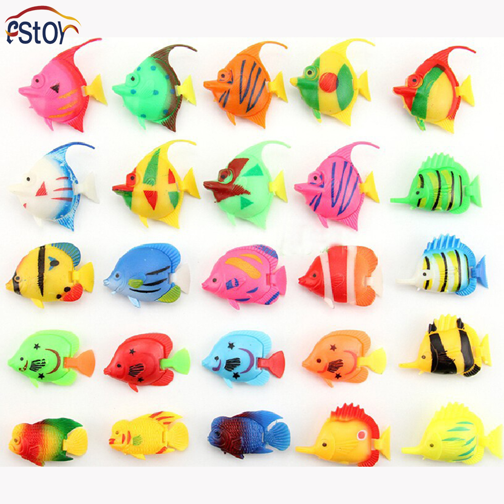 25pcs lot tropical fish model sea life toys action figures for Lot of fish