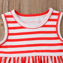 Summer baby girls striped and star tank with bloomer outfits set