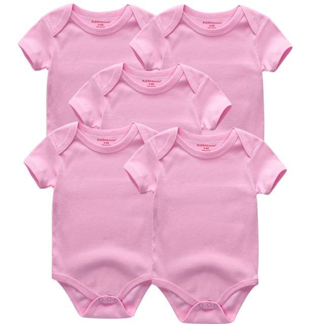 Kiddiezoom детские комбинезоны пижамы для маленьких девочек Дети Bebe Infantil одежда для новорожденных одежда из хлопка Одежда для маленьких мальчиков, Товары для детей - Цвет: pink 5062