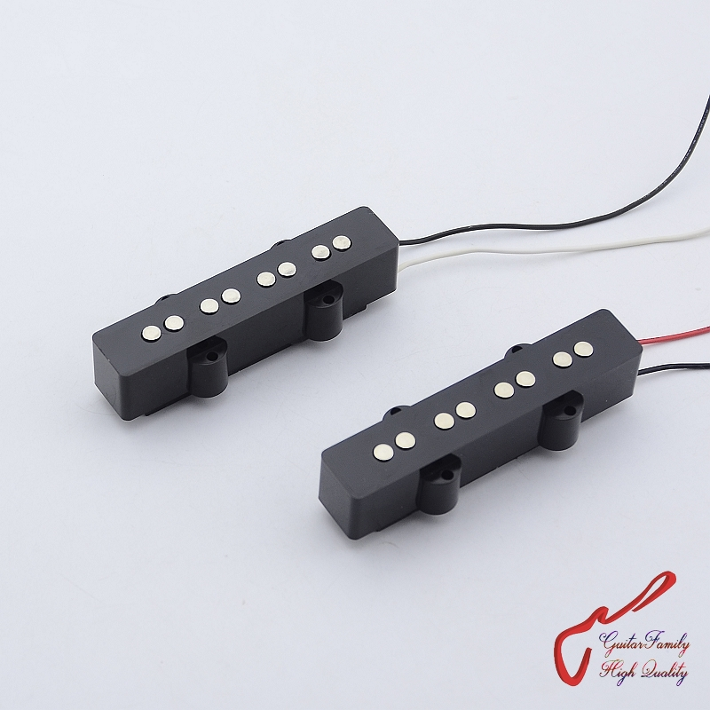 Clearance Sale 1 Set GuitarFamily Ceramic 4 Strings Jazz Bass Pickup ( #0663 ) Made In Korea 1 set guitarfamily original genuine electric bass pickup for epiphone thunderbird 1268 made in korea
