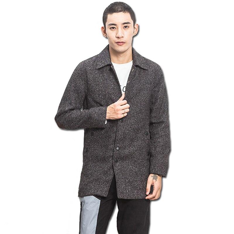 2016 Erkekler Kış Pamuk Naylon Ceketler Coats Uzun Parkas Jaqueta Masculina erkek Rahat Moda Slim Fit Veste Homme Ceketler erkek