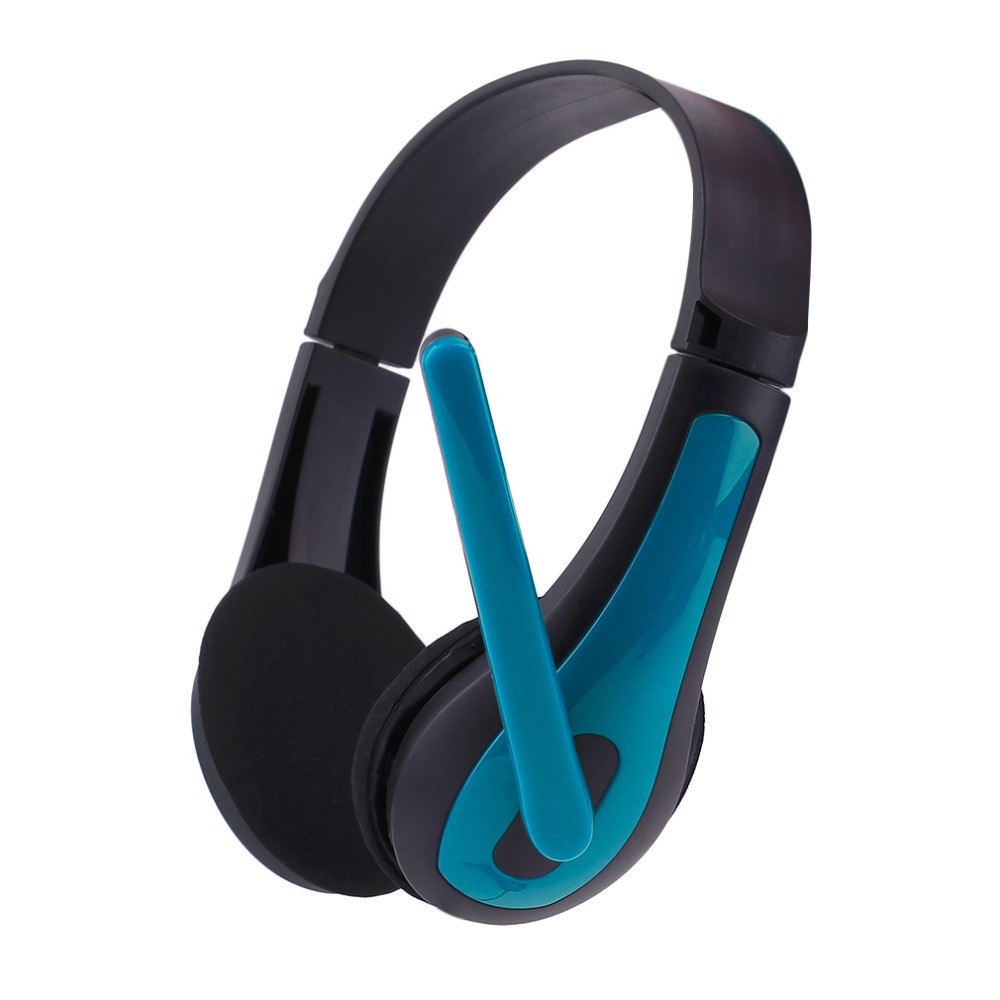 Universal Computer Laptop PC Headphone Ergonomic Design Wired Playing Game Headset Red Blue JM-472 Fashion Good Quality