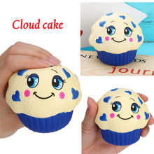 2019 Cute Cloud Cake Bread Ice Cream Kid Toys Squishy Squeeze Toy Slow Rising Relieves Stress Anxiety Attention To Adult Y*(China)