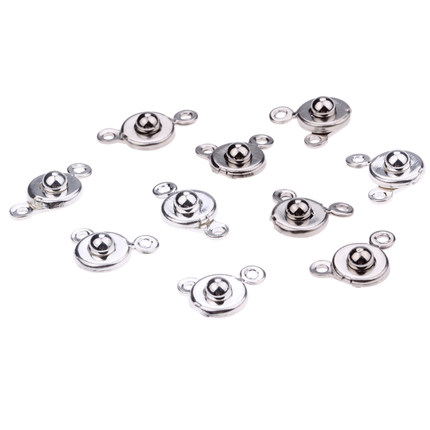 necklace clasps connector snap fastener jewelry making leather cord metal chains pendants clasp crimps ends beads component set jewelry making